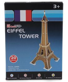 CubicFun Small Eiffel Tower France Puzzle Multicolor - 20 Pieces