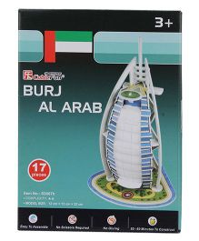 CubicFun Burj Al Arab 3D Puzzle - 17 Pieces