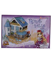 CubicFun Rural Villa Dollhouse - 132 Pieces