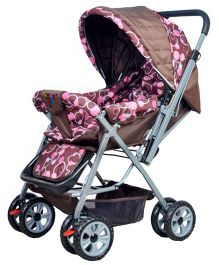 Happykids Stroller With Reversible Handle - Brown