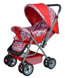 Happykids Stroller With Reversible Handle - Red