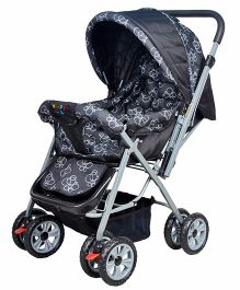 Happykids Stroller With Reversible Handle - Black