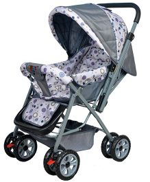 Happykids Stroller with Reversible Handle - Grey