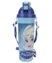 Disney Frozen Push Button Water Bottle Blue - 700 ml
