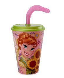 Disney Frozen Tumbler With Straw Pink - 430 ml