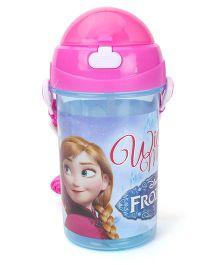 Disney Frozen Push Button Water Bottle - 500 ml