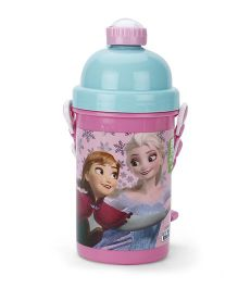 Disney Frozen Sparkling Water Bottle Pink And Blue - 500 ml
