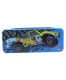 Hot Wheels Double Decker Pencil Box - Blue
