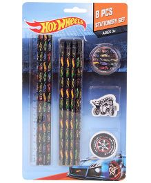 Hot Wheels Stationery Set - 8 Pieces