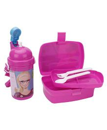 Barbie Lunch Box And Water Bottle Combo Set - Pink