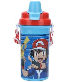 Pokemon Water Bottle Blue And Red - 500 ml