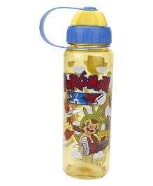 Pokemon Water Bottle Blue And Yellow - 550 ml