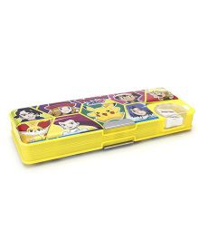 Pokemon Magnetic Clip Pencil Box - Yellow