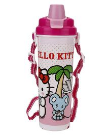 Hello Kitty Water Bottle Pink And White - 700ml