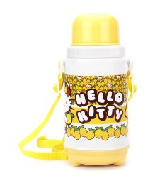 Hello Kitty Insulated Water Bottle With Cup - Yellow