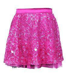 Hugsntugs Fully Sequined Skirt - Hot Pink