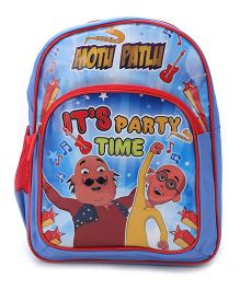 Motu Patlu School Backpack Blue - 14 inches