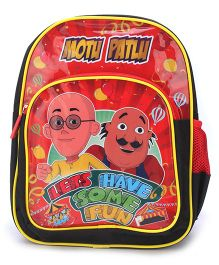 Motu Patlu School Backpack Red - 14 inches