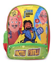 Motu Patlu John Banega Don Print Backpack - 14 inches