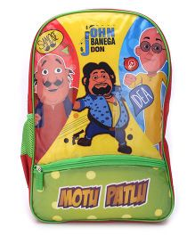 Motu Patlu John Banega Don Print Backpack - 18 inches