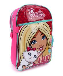 Barbie Love School Backpack Pink - 18 inches