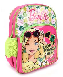 Barbie School Backpack Pink And Green - 16 inches