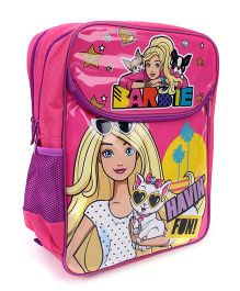 Barbie Have Fun Print School Backpack Pink - 16 inches
