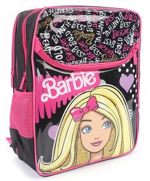 Barbie School Backpack Pink And Black - 16 inches
