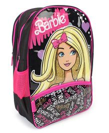 Barbie School Backpack Pink And Black - 18 inches