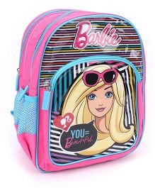 Barbie School Backpack Pink And Blue - 14 inches