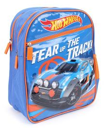 Hot Wheels Tear Up The Track Backpack Blue - 14 inches