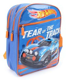 Hot Wheels Tear Up The Track Backpack Blue - 16 inches