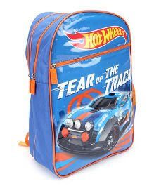 Hot Wheels Tear Up The Track Backpack Blue - 18 inches