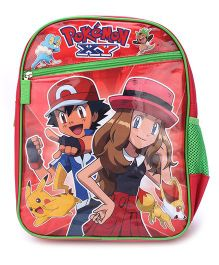 Pokemon School Backpack Red - 14 inches