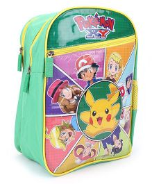 Pokemon Pikachu School Backpack Green - 14 inches