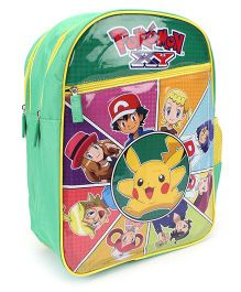 Pokemon Pikachu School Backpack Green - 16 inches