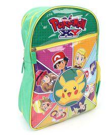 Pokemon Pikachu Print School Backpack Green - 18 inches
