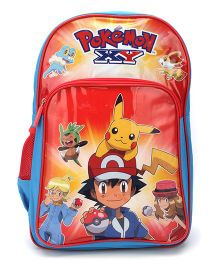 Pokemon School Backpack Red And Blue - 18 inches
