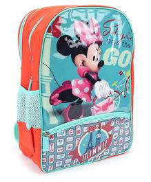 Disney Minnie Mouse School Backpack Blue And Orange - 18 inches