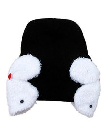 Pikaboo Rabbit Baby Cap - Black