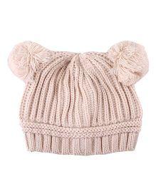 Pikaboo Woolen Bunny Baby Cap - Cream