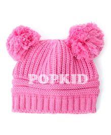 Pikaboo Woolen Bunny Baby Cap - Pink