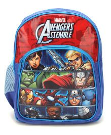 Marvel Avengers Assemble School Backpack Blue And Red - 12 inches