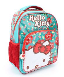 Hello Kitty Flower Print School Backpack - 14 inches