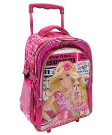 Barbie Glitter Glow Trolley School Backpack Pink - 16 inches