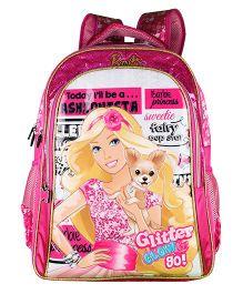 Barbie Glitter Glow School Backpack - 18 inches