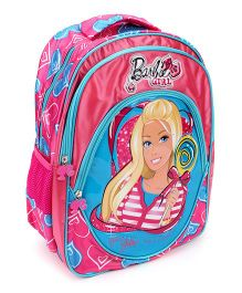 Barbie School Backpack With Movie DVD Blue And Pink  - 16 inches