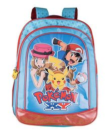 Pokemon XY School Backpack Blue - 16 inches