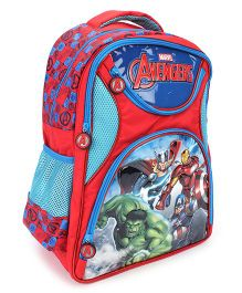 Marvel Avengers School Backpack Red And Blue - 18 inches