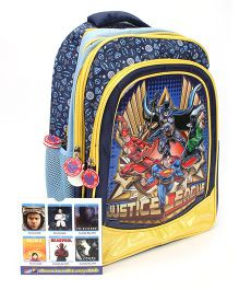 Justice League Backpack Blue And Yellow - 15 inch